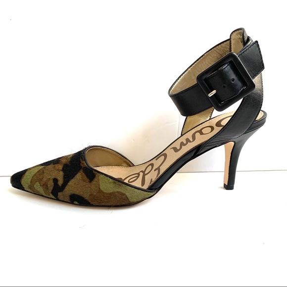 ecc25c4b13aa2 Sam Edelman Shoes | Camo Okala Calf Hair Pointed Heels | Poshmark